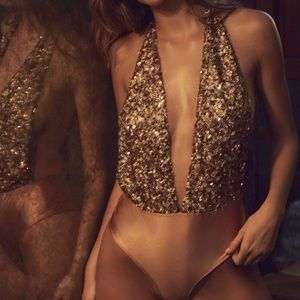 Urban Outfitters Sequin Bodysuit XS